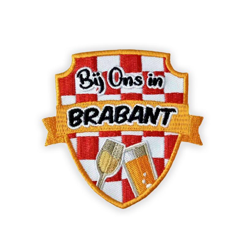 Carnaval embleem Bij ons in Brabant rené schuurmans
